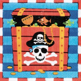 Pirate Treasure Napkins, pack of 16