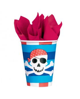 Pirate Treasure Paper Cups 8pk
