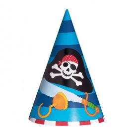 Pirate Treasure Cone Hats 8pk
