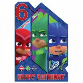 PJ Masks Age 6 Birthday Card