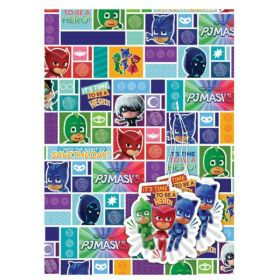 PJ Masks Gift Wrap with 2 Tags