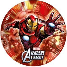 Avengers Multi Heroes Paper Plates pk8 23cm