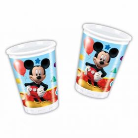 Playful Mickey Mouse Plastic Party Cups pk8