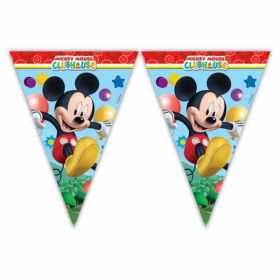 Playful Mickey Mouse Flag Party Banner 2m