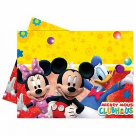 Playful Mickey Mouse Plastic Party Tablecover