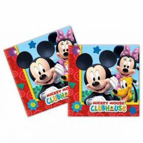 Playful Mickey Mouse Paper Party Napkins pk20