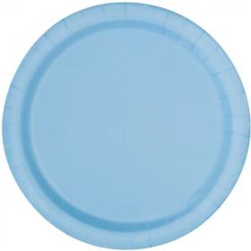 Pastel Blue Paper Party Plates