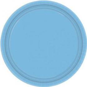 Powder Blue Paper Plates, 8pk
