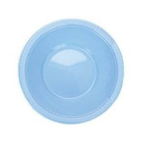 Powder Blue Plastic Bowls 20pk
