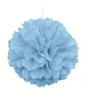 Powder Blue Paper Puff Ball Hanging Party Decoration