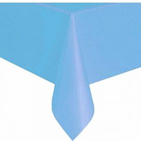 Value Powder Blue Plastic Tablecover