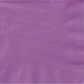 Pretty Purple Lunch Napkins pk20