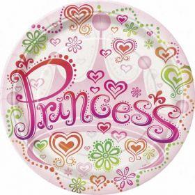 "Princess Diva 9"" Paper Plates"