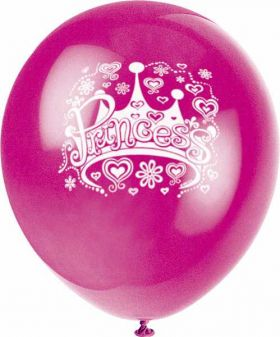 Princess Balloons, 8 Pack