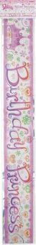 Princess Diva 12ft Birthday Foil Banner