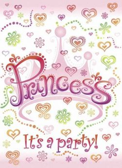 Princess Diva Invitations, 8 Pack