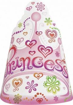 Princess Diva Party Hats, 8 pk