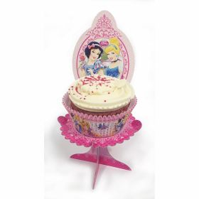 Disney Princess Sparkle Individual Party Cup Cake Stands pk4
