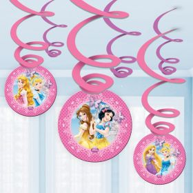 Disney Princess Sparkle Hanging Decorations pk6