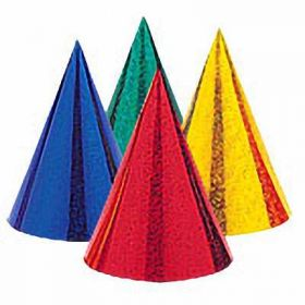 Prismatic Cone Party Hats 8pk