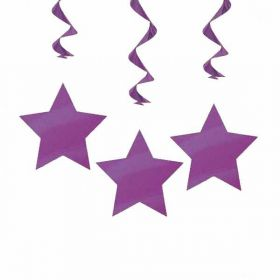 Purple Star Hanging Swirls