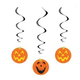 Pumpkin Hanging Swirl Decorations