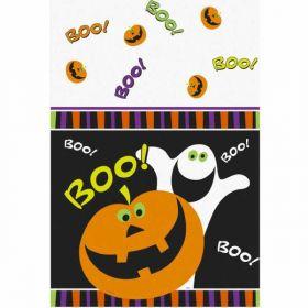 Pumpkin Boo Halloween Party Tablecover, plastic