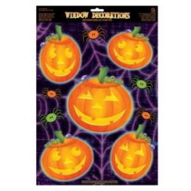 Pumpkin Vinyl Window Decoration