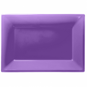 Purple Plastic Serving Trays
