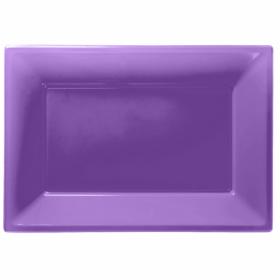 Purple Plastic Serving Trays