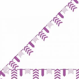Purple Dots, Stripes & Chevron Pennant Banner