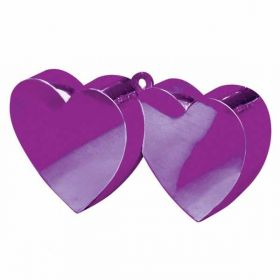 Purple Double Heart Balloon Weight