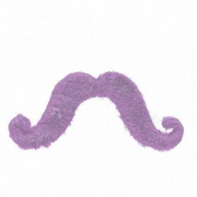 Fake handlebar moustache, Purple