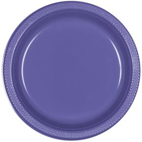 Purple Plastic Party Plates 23, pk20