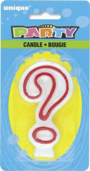 Red & White Party Candle ?