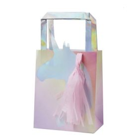 Iridescent Unicorn Party Bags, pk5