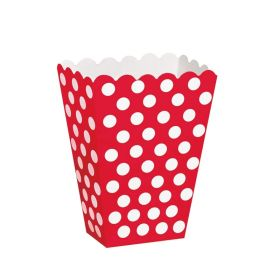 Red Polka Dot Party Treat Boxes