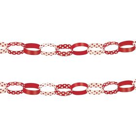 Red Polka Dots Paper Chains