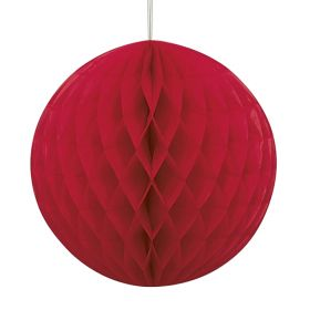 Red Honeycomb Ball Party Decoration 20cm