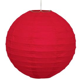 Red Round Lantern Party Decoration 25cm