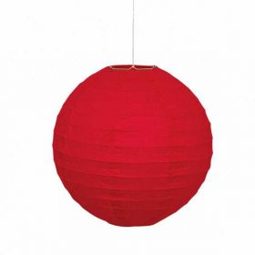 Round Lantern Red Party Decoration 10""
