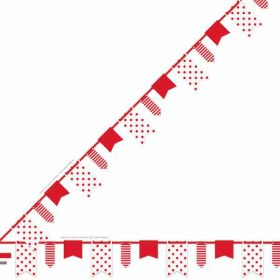 Red Dots, Stripes & Chevron Pennant Banner