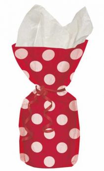 Red Polka Dot Party Cello Bags 20pk