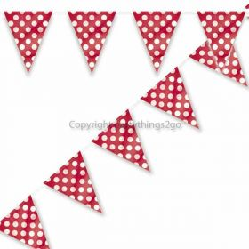 Red Polka Dot Party Flag Bunting