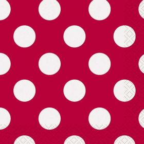 Red Polka Dot Party Napkins 16pk