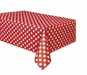 Red Polka Dot Party Tablecover