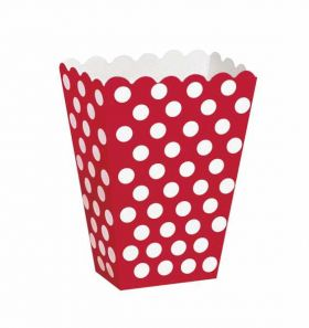 Red Polka Dot Party Treat Boxes 8pk