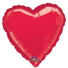 Metallic Red Heart Foil Balloon