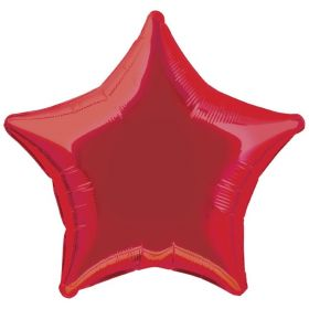 Red Star Foil Balloon 20""
