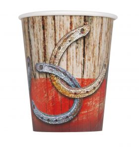 Rodeo Western Party Cups pk8